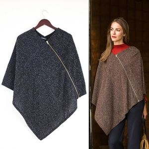 Betabrand Modern Day Poncho One Size Gray
